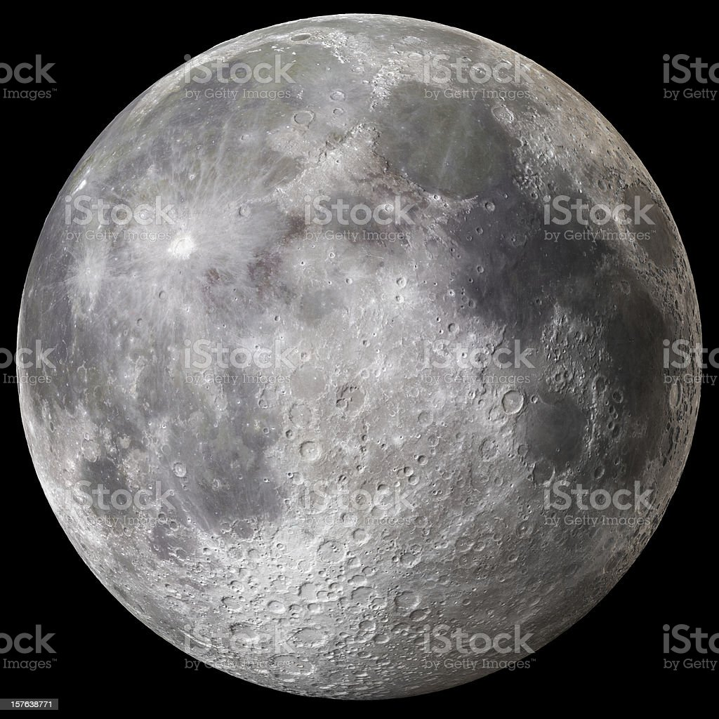 Earth's Full Moon v3 stock photo