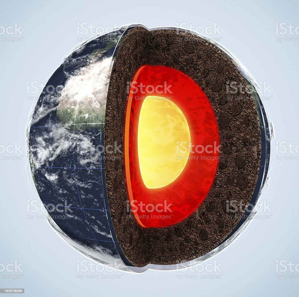 Earth's layers royalty-free stock photo