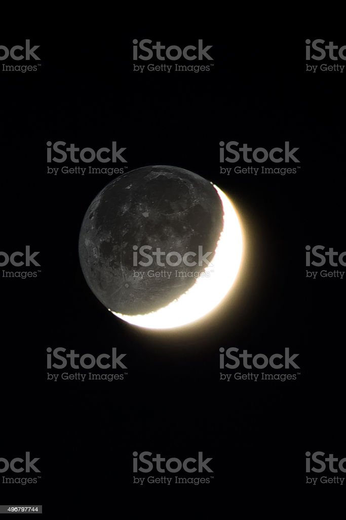 Earth's only natural satellite stock photo