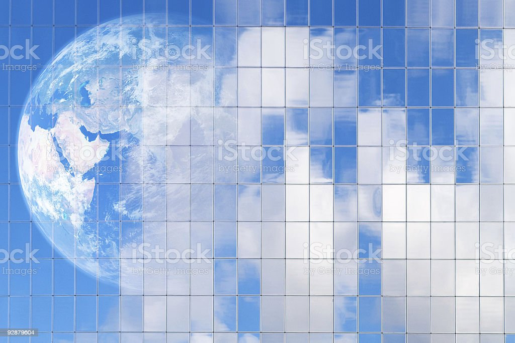 Earths reflection royalty-free stock photo