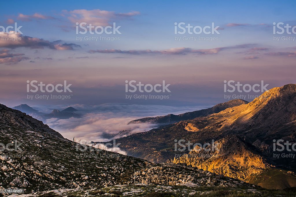 Earth's Shadow above the clouds royalty-free stock photo