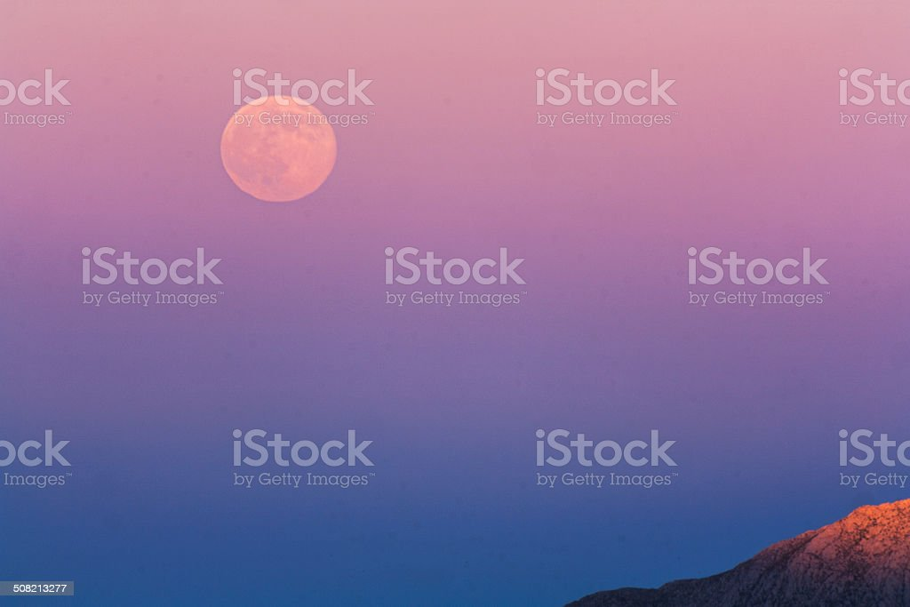 Earth's Shadow and the Super Full Moon royalty-free stock photo