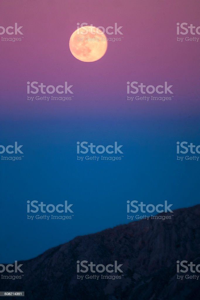 Earth's Shadow and the Super Full Moon stock photo