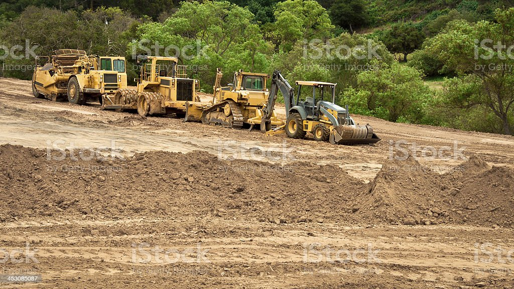 Earthwork Site and Equipment stock photo
