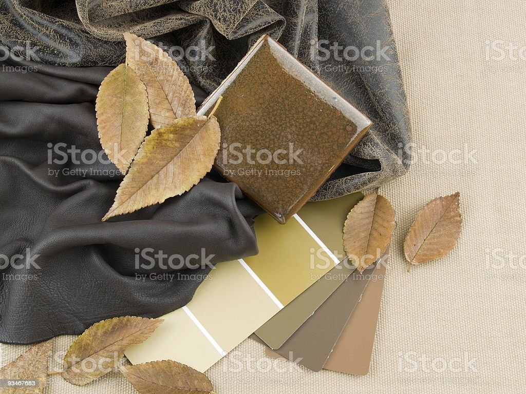 Earthy brownish interior design plan royalty-free stock photo