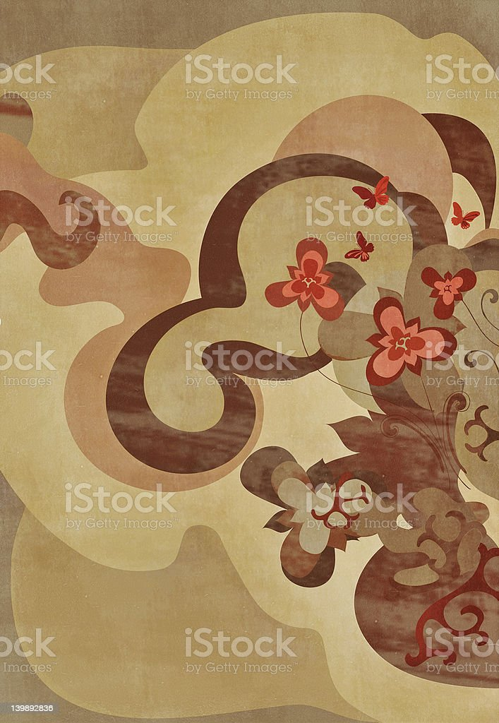 earthy floral art royalty-free stock photo