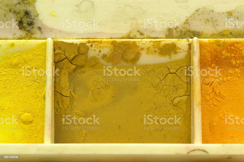 Earthy Toned Color Swatch Watercolor on Palette royalty-free stock photo