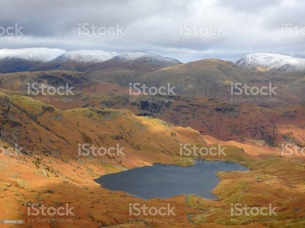 Easedale Tarn Lake District Cumbria stock photo