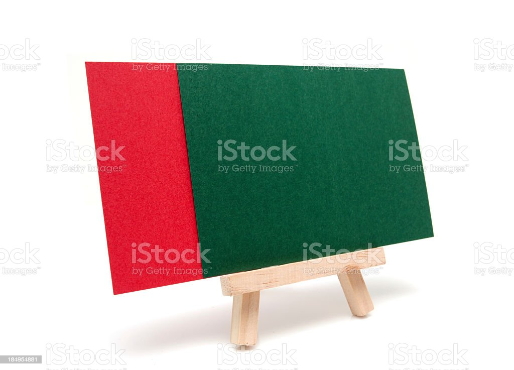 Easel about Christmas isolated on white background royalty-free stock photo