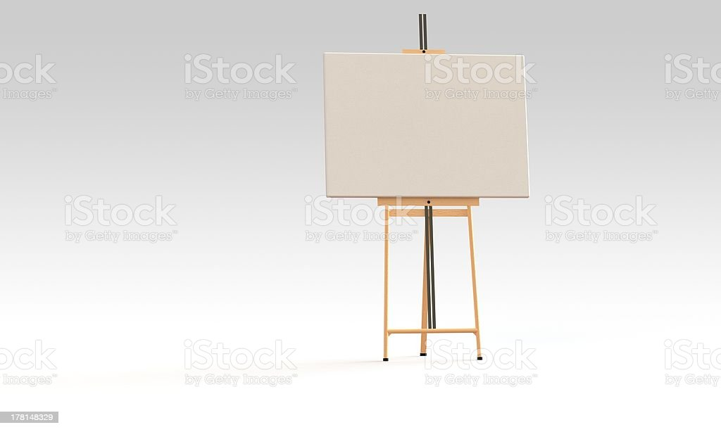 Easel and canvas board isolated royalty-free stock photo