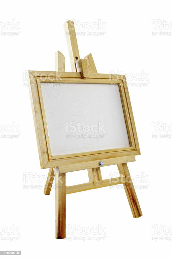 Easel and canvas royalty-free stock photo