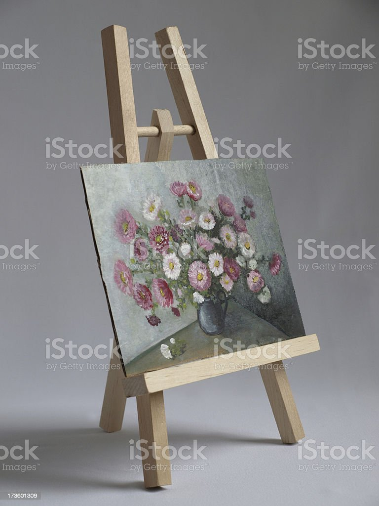 Easel and Painting royalty-free stock photo