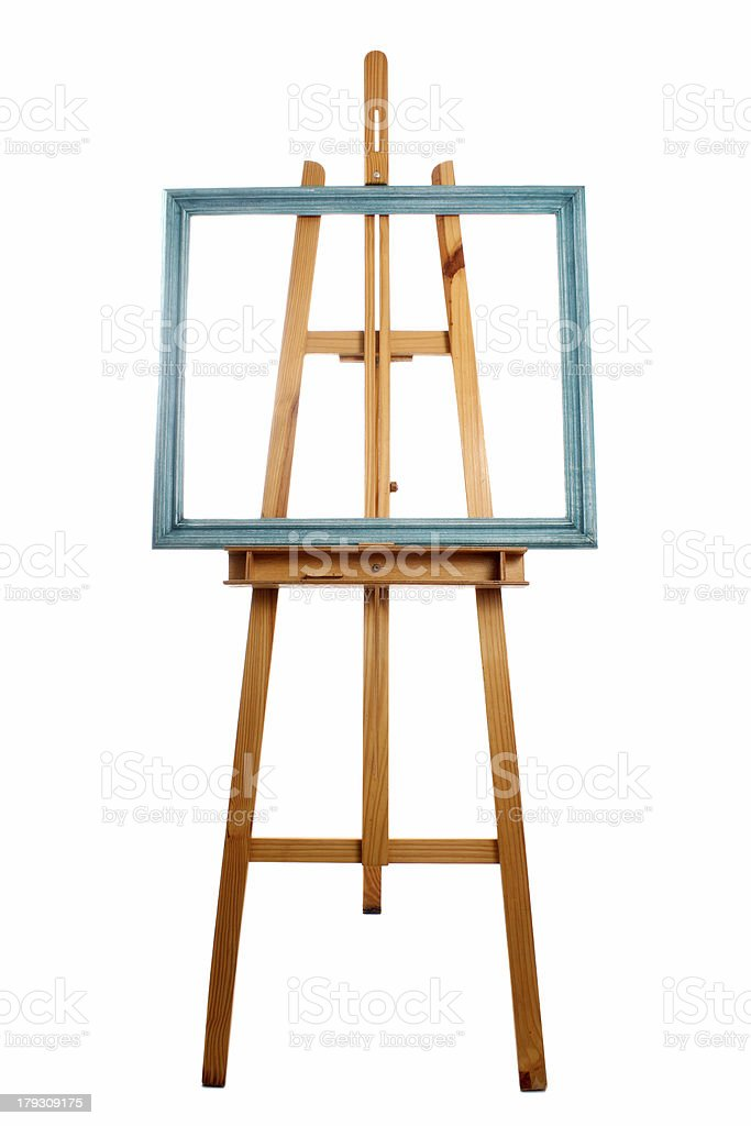 Easel and patina frame royalty-free stock photo