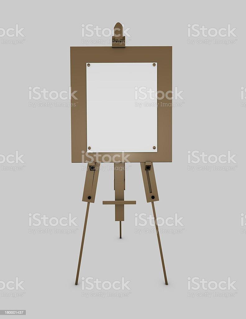 Easel artistic equipment stock photo