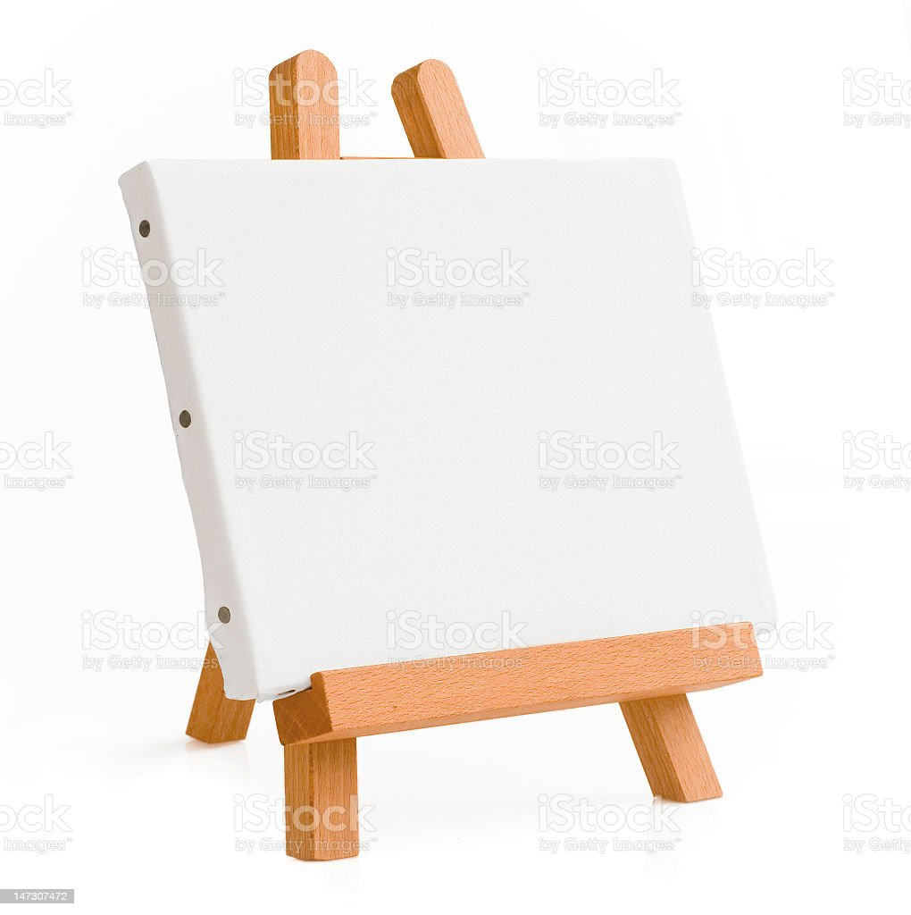 easel for artist. tripod with clipping path. royalty-free stock photo