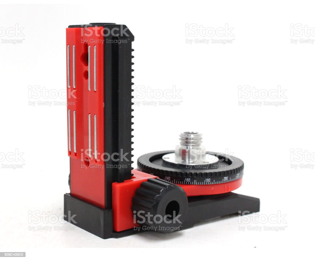 Easel for Laser measurement tool stock photo
