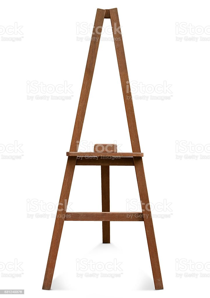 easel isolated on a white background. stock photo
