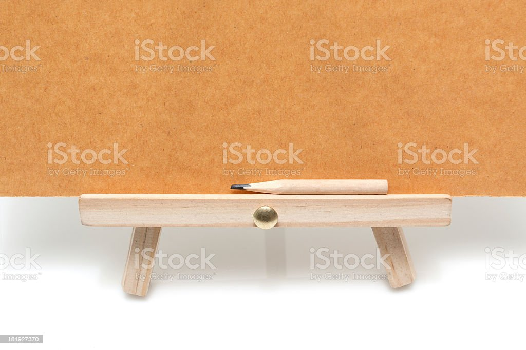 Easel isolated on white background stock photo