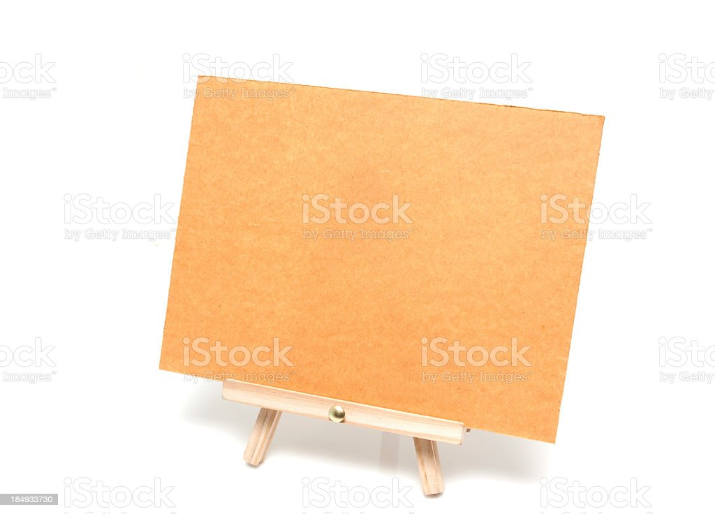 Easel isolated on white background royalty-free stock photo