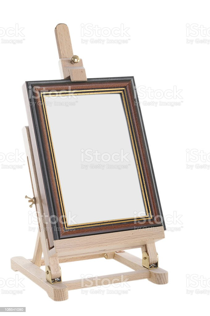 Easel isolated on white stock photo