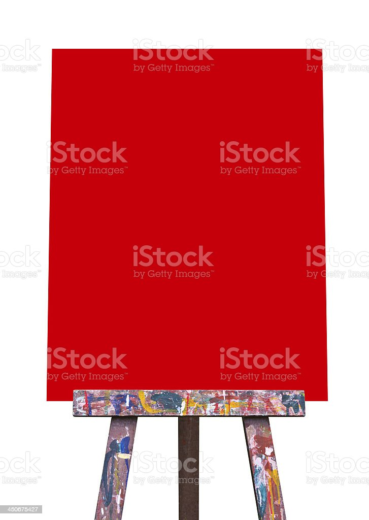 Easel isolated royalty-free stock photo