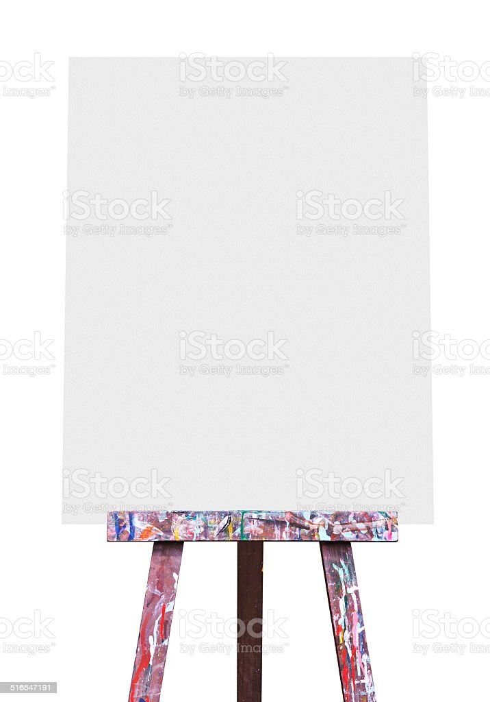 Easel isolated stock photo