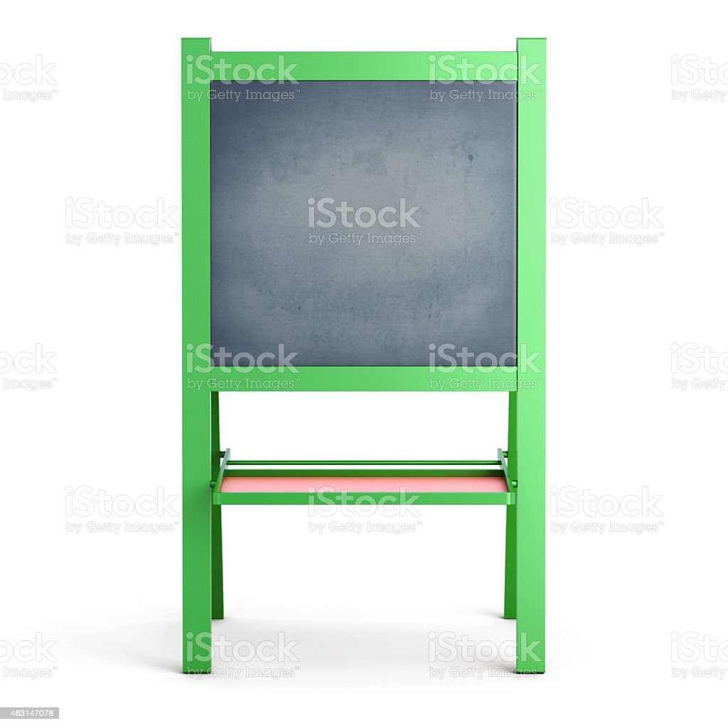 Easel on a white stock photo
