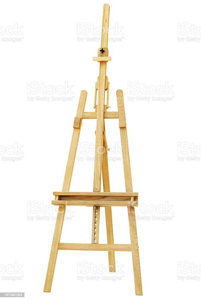 Easel, path included royalty-free stock photo