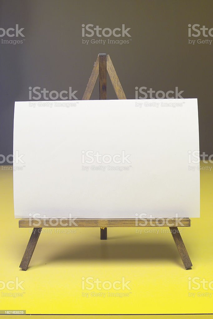 easel royalty-free stock photo