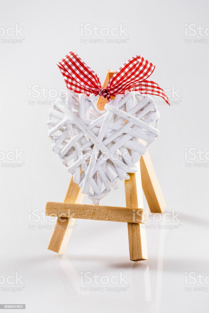 Easel with heart stock photo