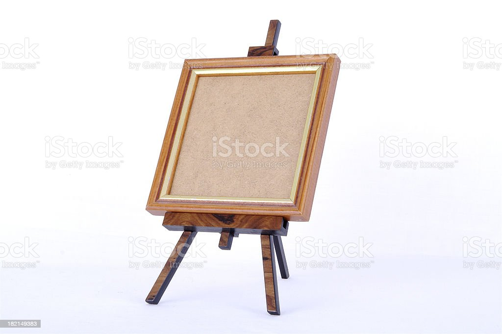 Easel With Your Message royalty-free stock photo