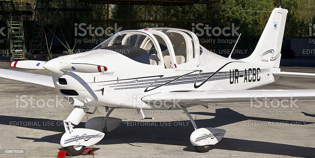 Easily motor aircraft model of the new plane, royalty-free stock photo