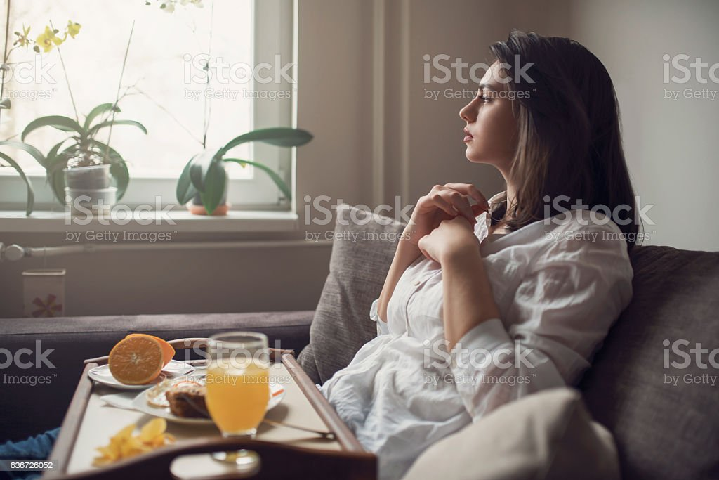 Easily planning the day stock photo