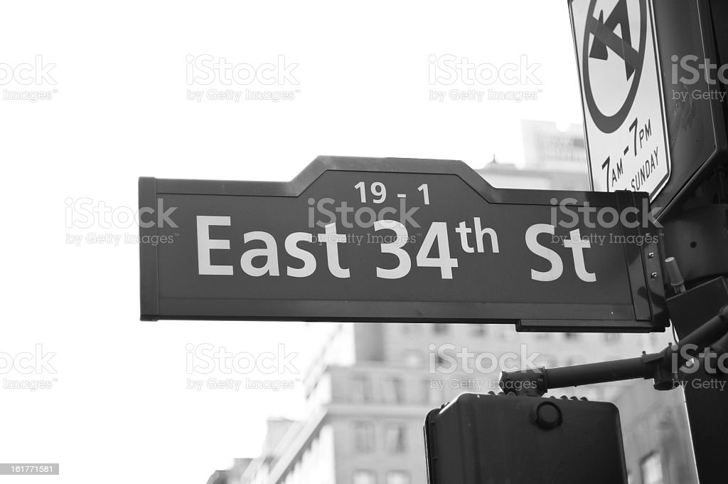 East 34 street stock photo