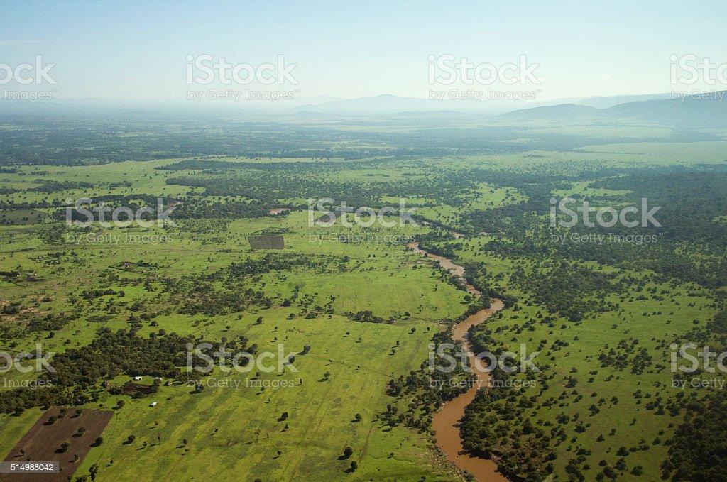 East Africa landscape stock photo