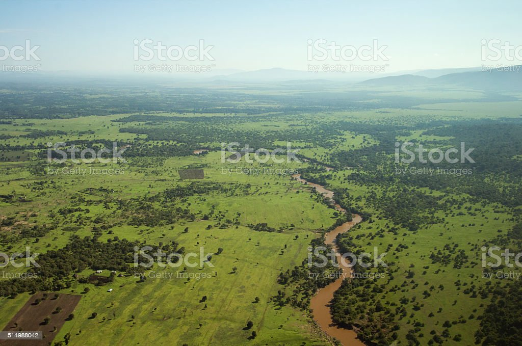 East Africa landscape stock photo