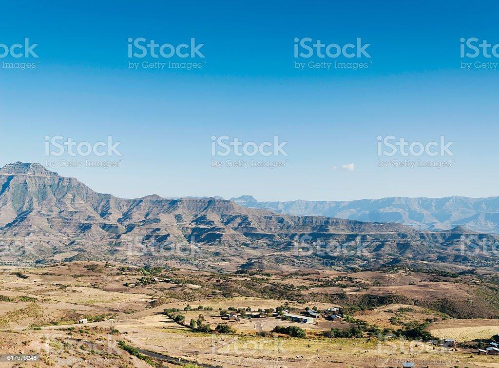 east african landscape near lalibela ethiopia stock photo