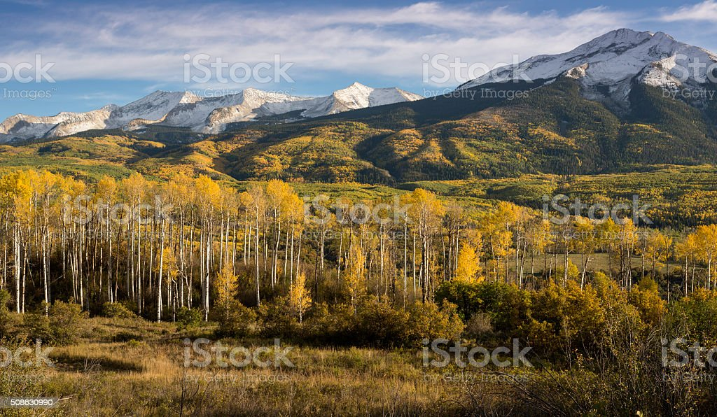 East and West Beckwith Mountain in Autumn stock photo
