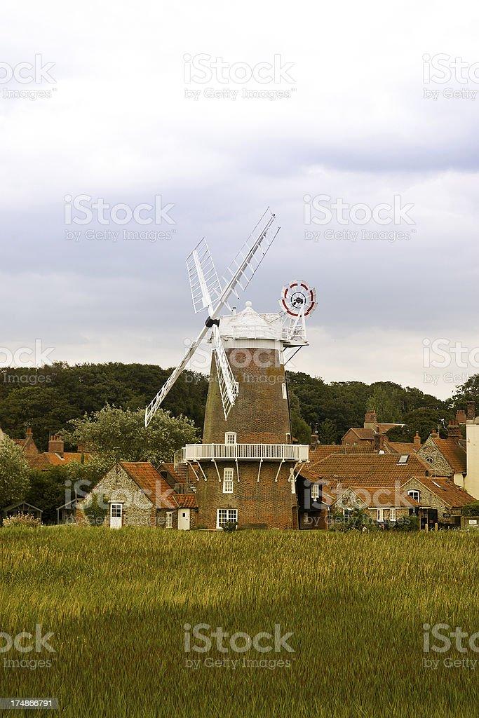 East Anglian windmill royalty-free stock photo