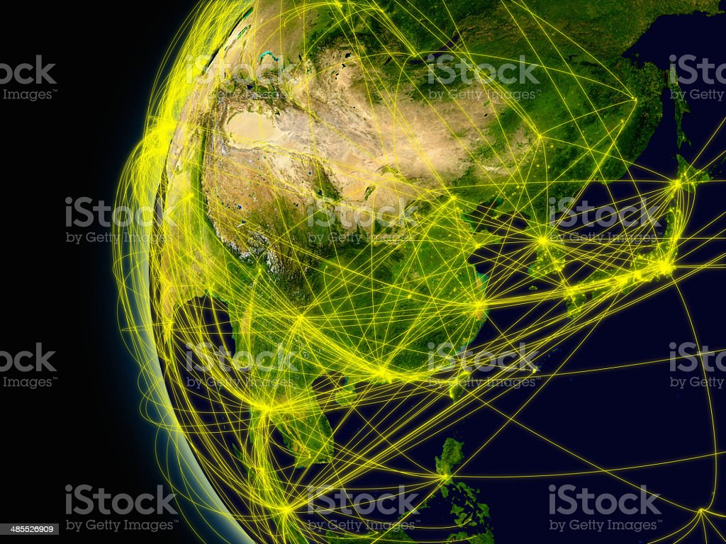 East Asia connections stock photo