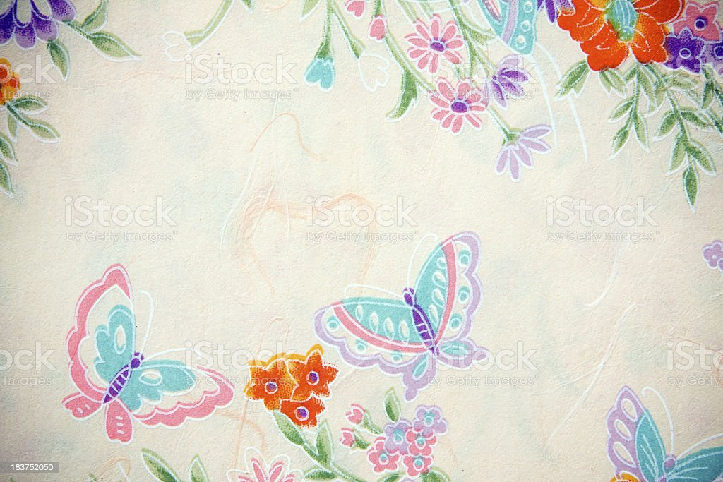 East Asian Textured Paper royalty-free stock photo