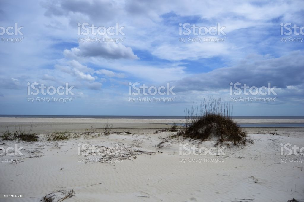 East Beach, St. Simons Island stock photo