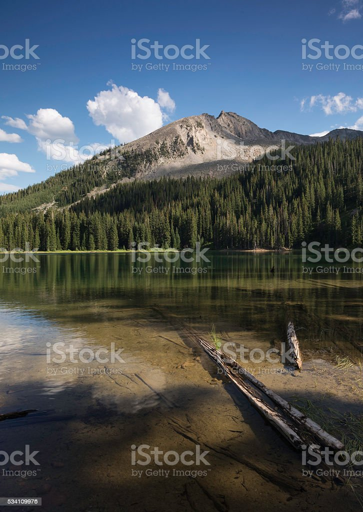 East Beckwith Mountain and Lost Lake stock photo