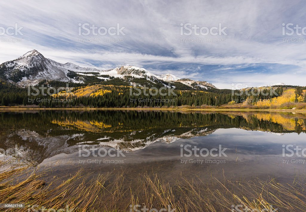 East Beckwith Mountain  and Lost Lake Slough stock photo