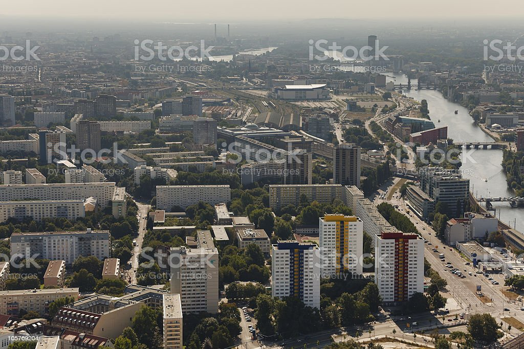 East Berlin - River Spree royalty-free stock photo