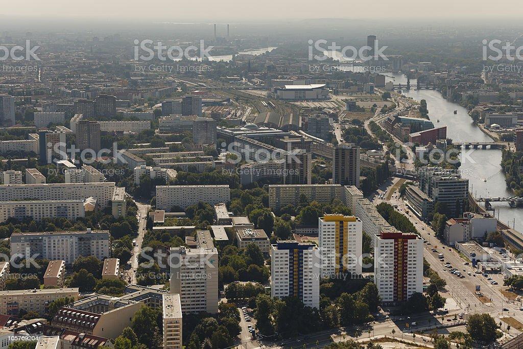 East Berlin - River Spree stock photo