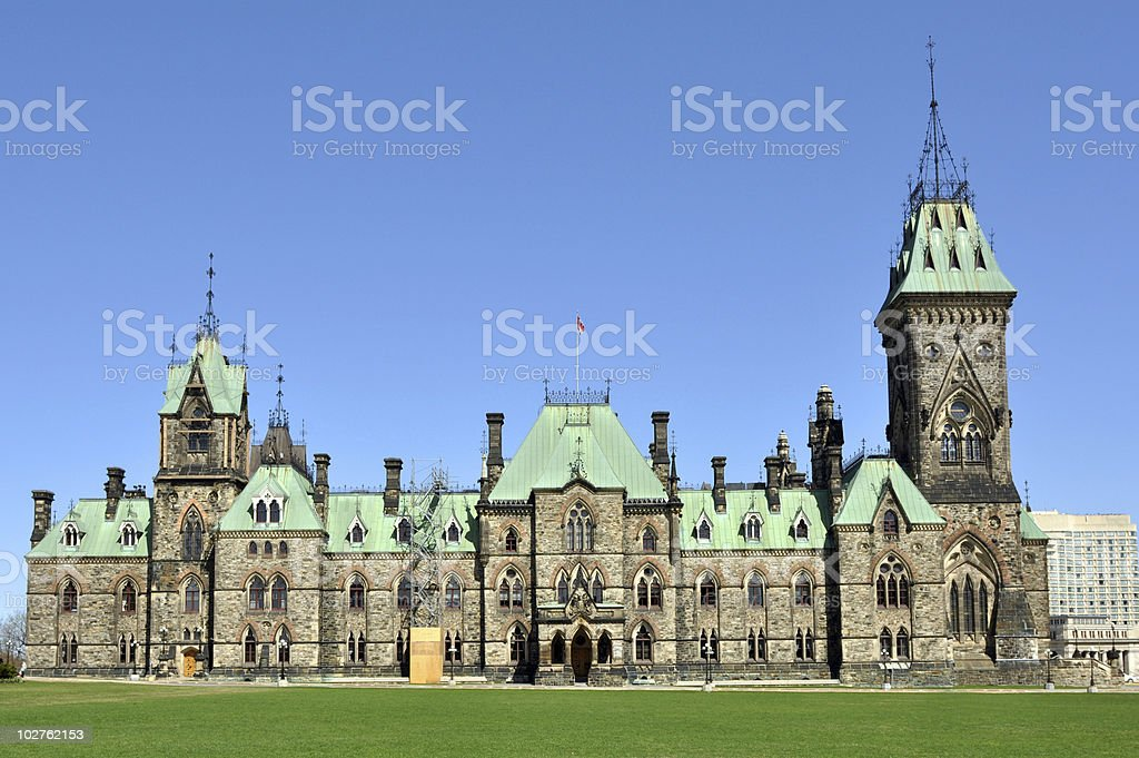 East Block Parlimant Building Ottawa stock photo