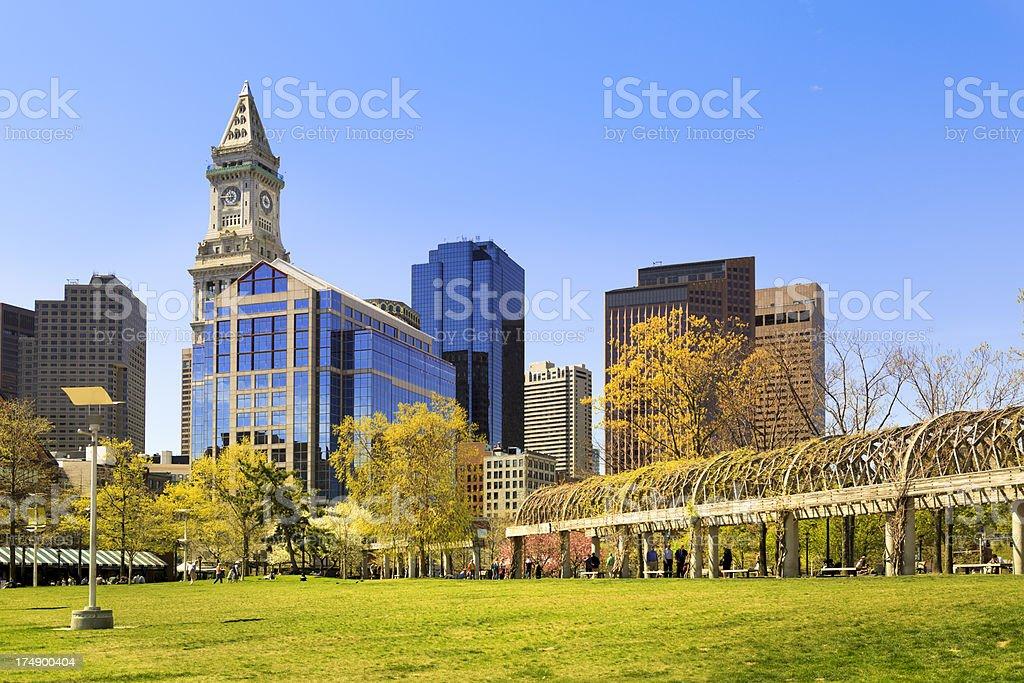 East Boston and Custom House stock photo