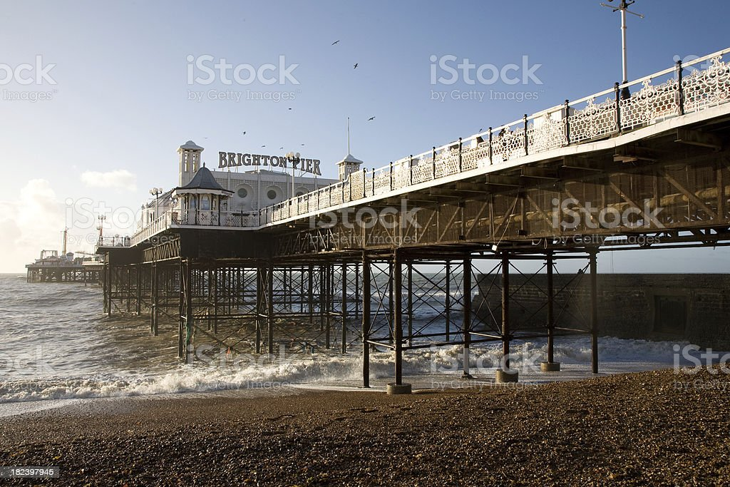 East Brighton Pier stock photo