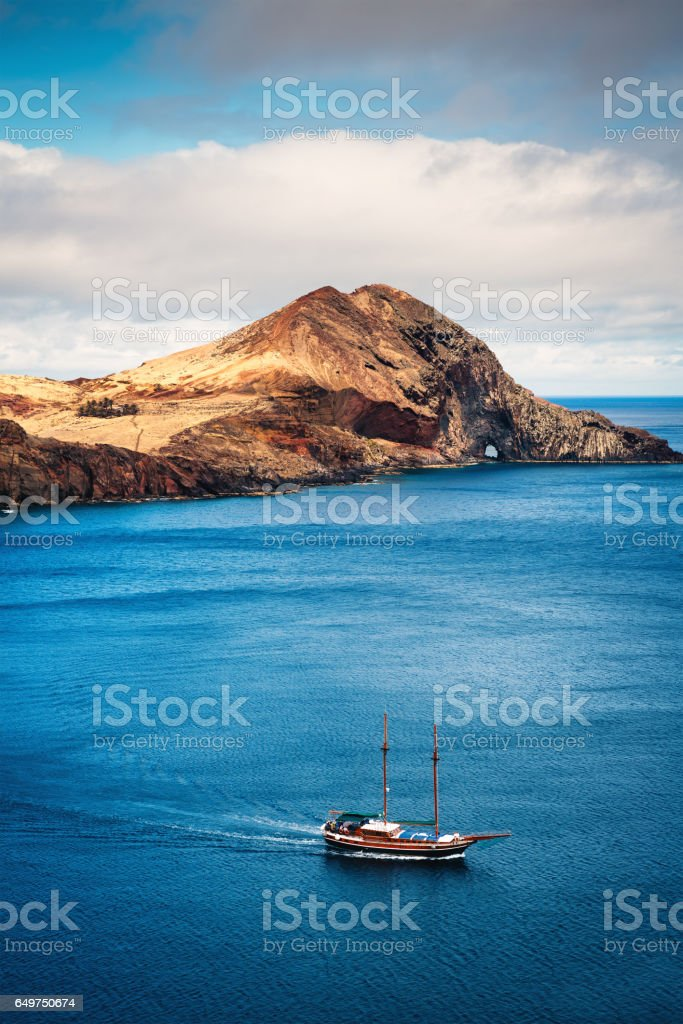 East Cape On Madeira Island stock photo